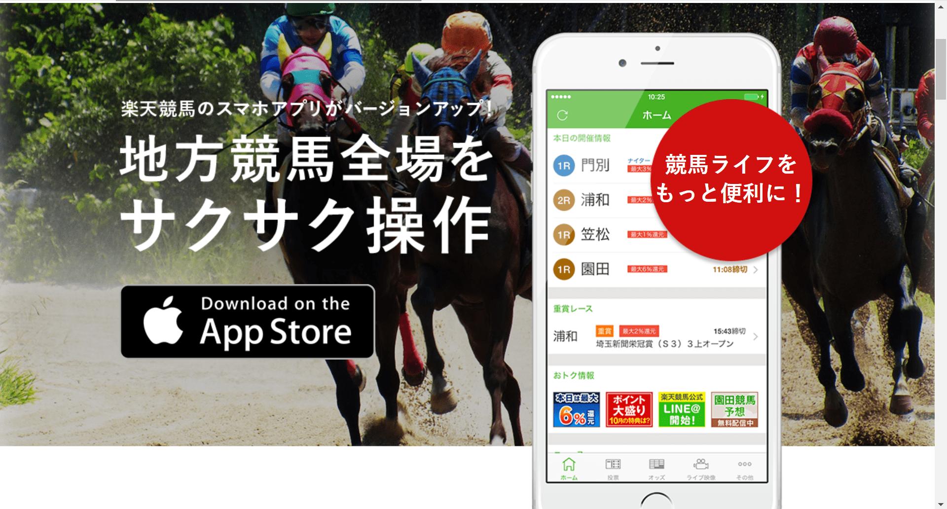 楽天競馬アプリ